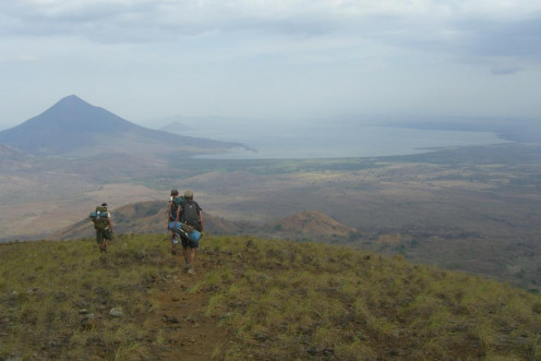 Looking down into the Managua valley from El Hoyo