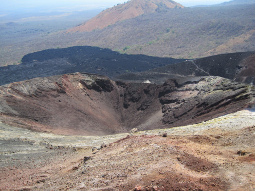 Another view of the crater at Cerro Negro.