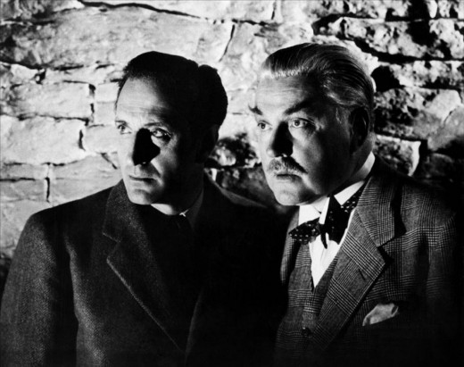 Basil Rathbone and Nigel Bruce in the 1939 version.