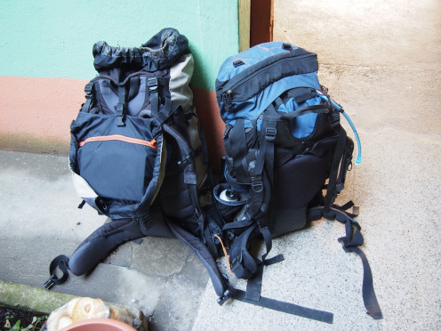 Our 60 Liter packs as we set out for 4 days of Todos Santos