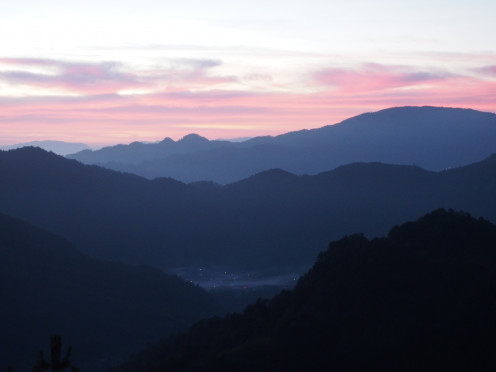 Day 2 was a 3am wakeup and 85 switchbacks before breakfast. Sunrise about half way up.
