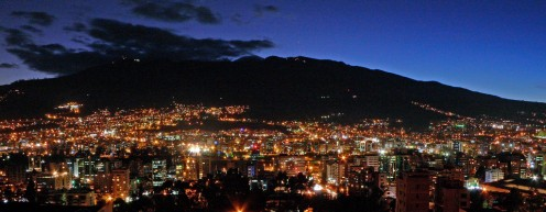 The lights of Quito