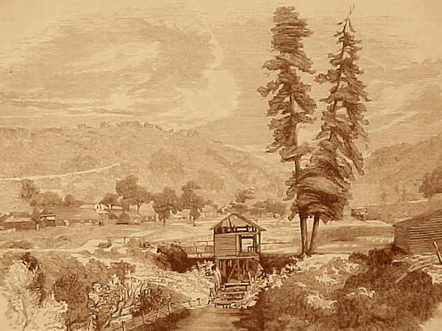 This is what Sutter's Mill looked like back in early 1848