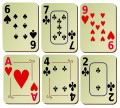 Arithmetic Card Games with a Standard Deck
