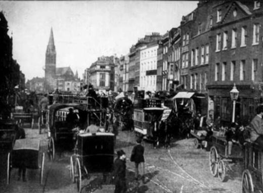 Whitechapel area of London circa 1903.