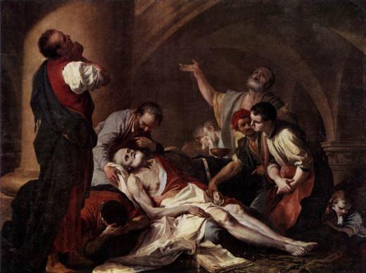 """Giambettino Cignaroli's """"The death of Socrates"""""""