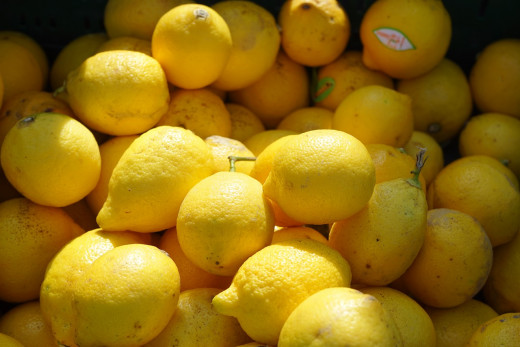 I love the way my kitchen smells when I clean with fresh lemon juice.