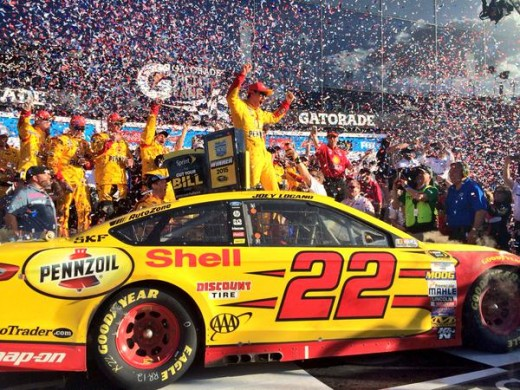 Logano won the Daytona 500 but the race didn't go the full overtime period