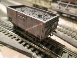 One of the British Railways' 16 ton standard mineral wagons - I have some made up from Dapol/Airfix and Parkside kits as well as Hornby and Bachmann ready-to-run self-detailed types