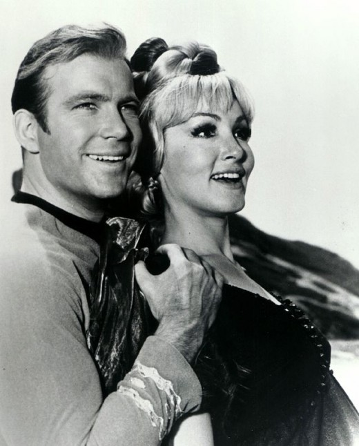 William Shatner and Julie Newmar in Star Trek: TOS; 1966 - 1969.