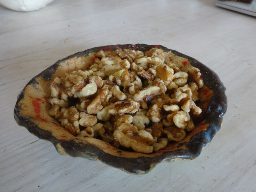 Walnuts ready for snacking