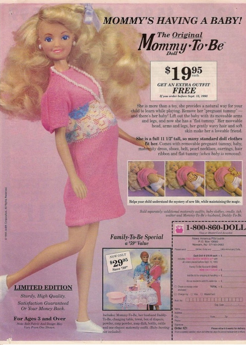 1993 Mommy To Be Advertisement