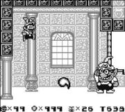 Wario, in his first appearance, being the final boss for Super Mario Land 2: 6 Golden Coins