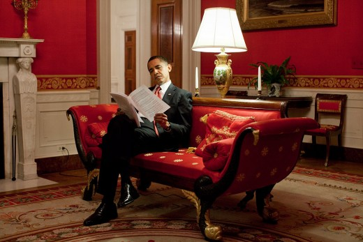 President Barack Obama's Red Room