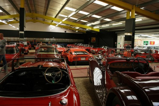Ana received a red car as a gift in 50 Shades of Grey. This is The Red Room of the Haynes International Motor Museum in Sparkford, Yeovil, Somerset UK.