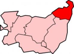 Map location of Waveney District, Suffolk