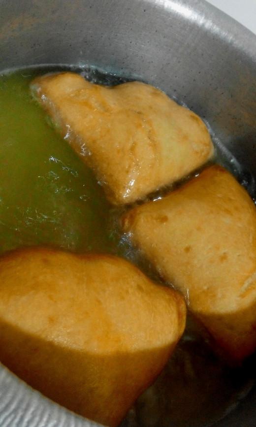 Cook by deep frying until golden brown