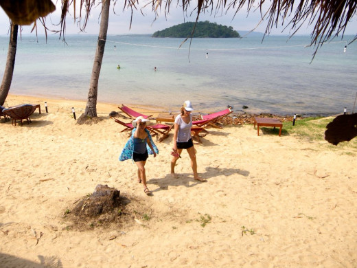 Beach Walking in the islands of Sihanoukvile