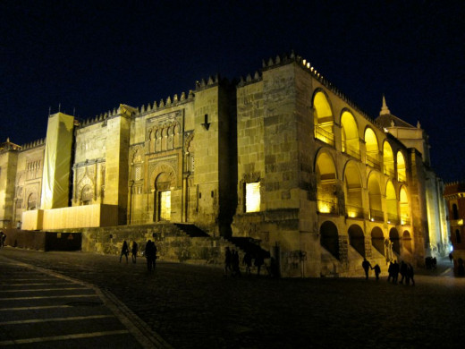 The Cordoba Mezquita at Night