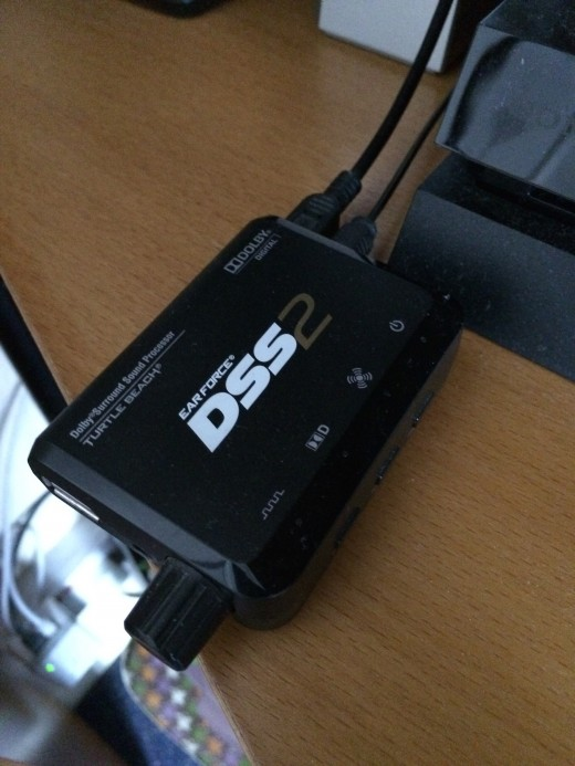 The DSS2 plugged into my PS4