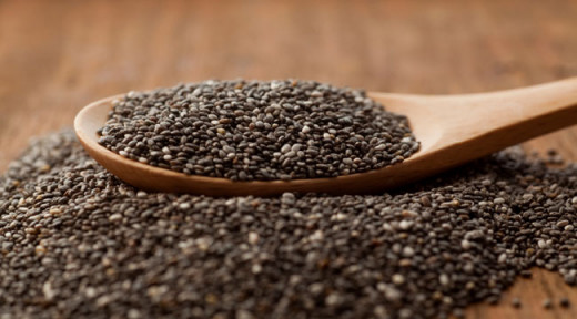 A spoon with chia seed