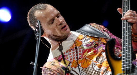 Flea can't stop rocking.