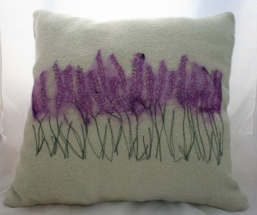 Lavender stitched into small pillows can help aid a restful sleep when placed by the bed or underneath your pillow.