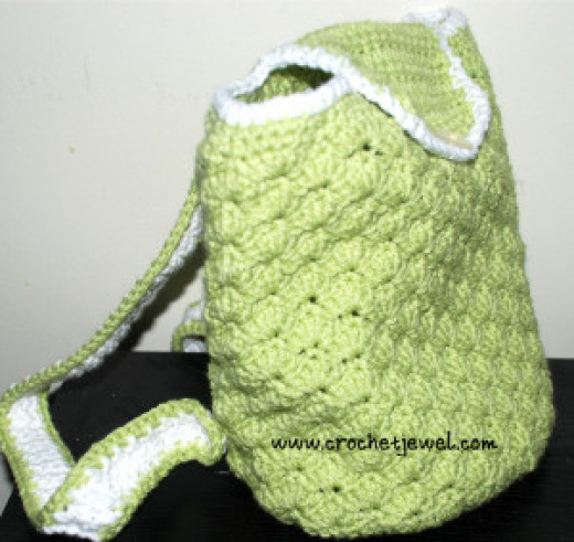 Crochet Shell Backpack