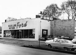 Vintage Ford car lot