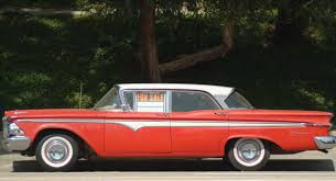 "It took an expert used car salesman to sell this ""beauty,"" the shame of the Ford Motor Co., an Edsel"