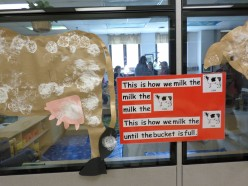 This is a fun display and a rebus song. Children & teachers can sing it any time.