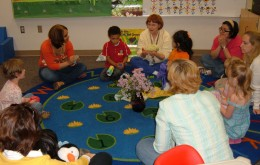 Children learn group rules, learn to pay attention to the speaker and to wait their turn in circle times.