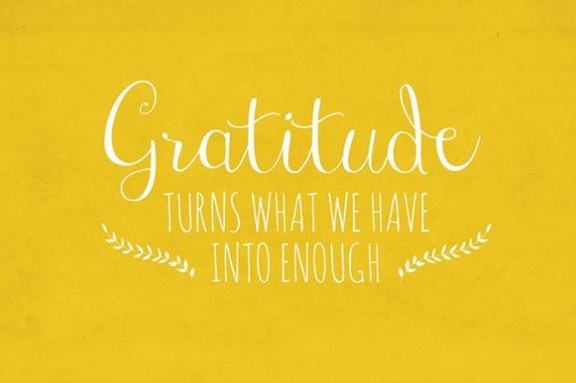 Gratitude is crucial in the law of attraction