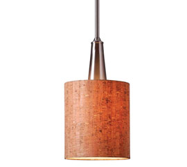 Kenroy Home 93011BS Bulletin 1-Light Mini Pendant, Brushed Steel