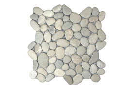 Bali Cloud Pebble Tile ((Mesh Mounted))