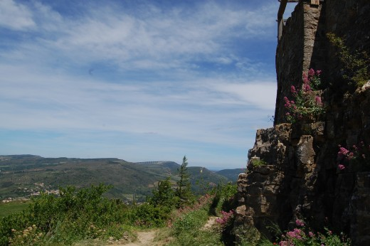 Views through the foothills of the Pyrenees