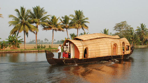Present day Kerala houseboat