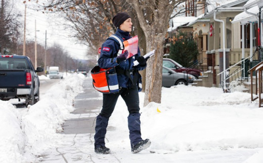 Canada Post.  Less deliveries, less mail carriers and lay-offs.
