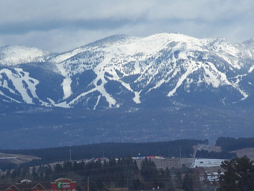 Snow covered mountain in Montana... beautiful to look at, but deadly if caught off guard.