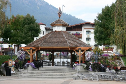 Gazebo in the center of town