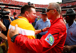Tennessee Vols, Butch Jones, Georgia Bulldogs, Mark Richt