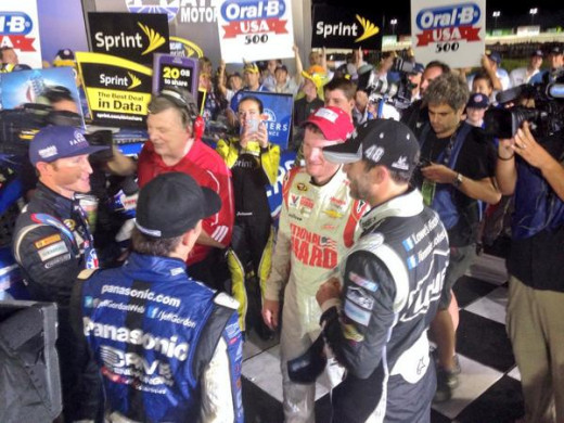 Kasey Kahne won here a year ago and his teammates haven't been too bad at Atlanta either
