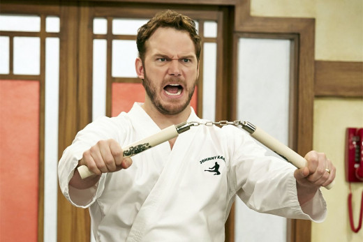 Chris Pratt's goofball Andy agrees that this finale was a kick-ass karate-chop of a good time!