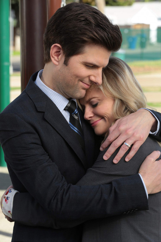 Leslie Knope and Ben Wyatt definitely share and spread the love