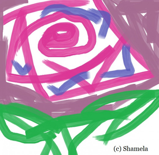 My drawing of a rose.