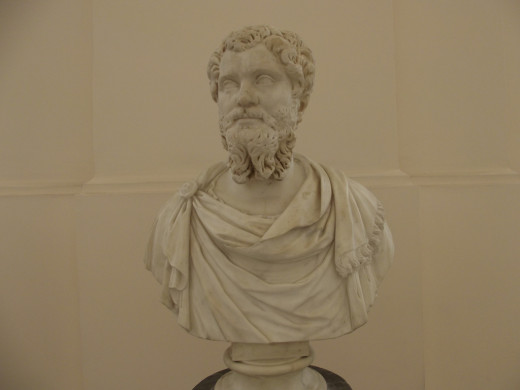 Bust of Septimius Severus, at the National Archaeological Museum of Naples.