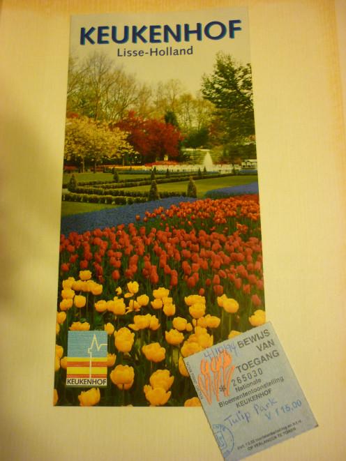 Keukenhof Brochure and stub 1993/1994