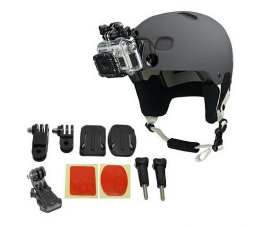 Helmet mount kit for GoPro