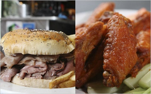 Beef on weck and chicken wings... Who doesn't love Buffalo?