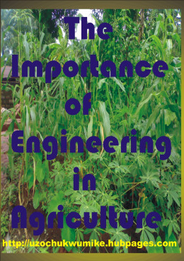 The importance of engineering as related to agricultural sector. The background is designed with cultivated crop.
